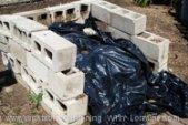 Ugly but cheap: a DIY cinder block compost bin