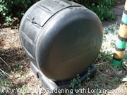A rolling compost tumbler is easier to rotate.