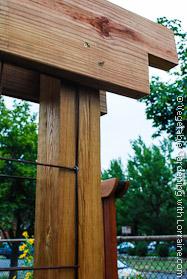 Corner Detail of Craftsman-style Garden Trellis