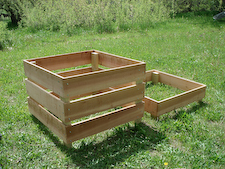 Homemade Cedar Compost Bin: Click for Plans