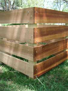 homemade compost bin with and without finish