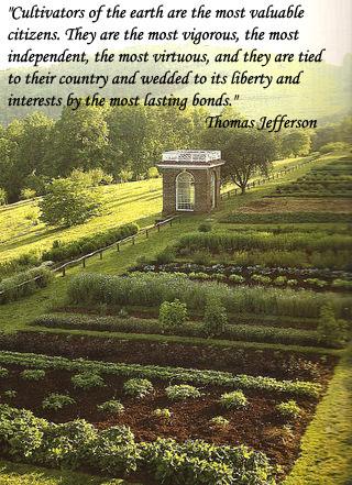 Vegetable Gardening at Monticello