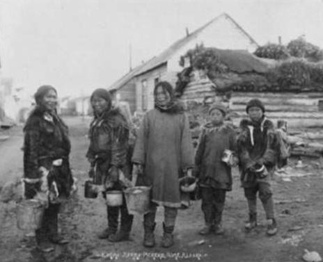 Inuit berry pickers circa 1939