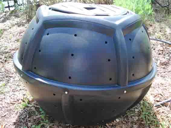 on-ground compost tumbler