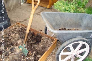 Beautiful finished compost ready to spread